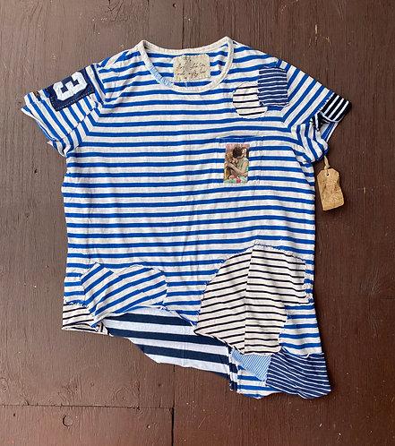 """Cotton T-Shirt """"Blue Dream""""size L-XL"""