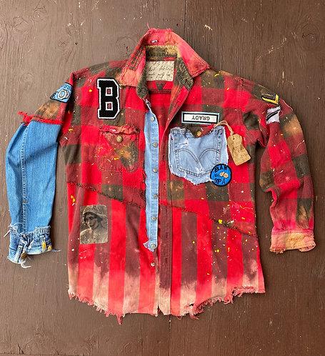 "Flannel Shirt ""Lucky"" size L-XL"