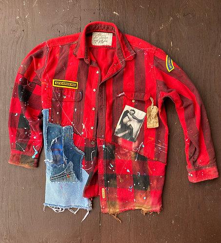 "Flannel shirt "" Dreamboat"" size L-XL"