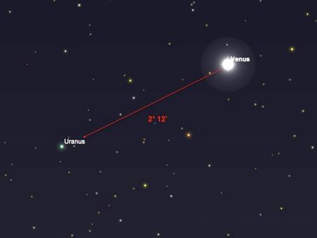 Beobachtungstipp: Venus trifft auf Uranus!