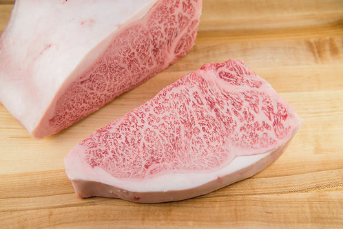 PREORDER FRESH A5 WAGYU STRIPLOIN STEAK (price per oz) Available by 11/16
