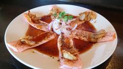 Salmon Sashimi California Style