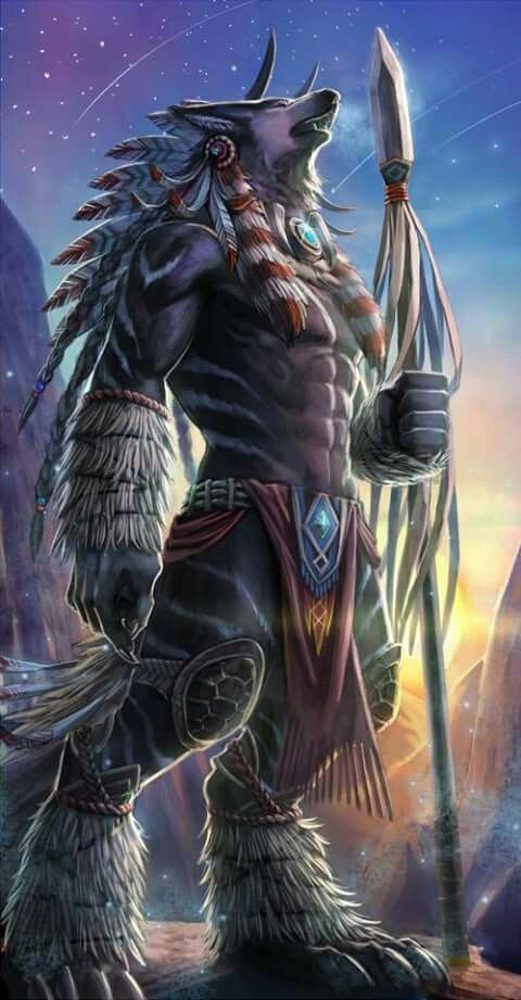 native n american wolf god