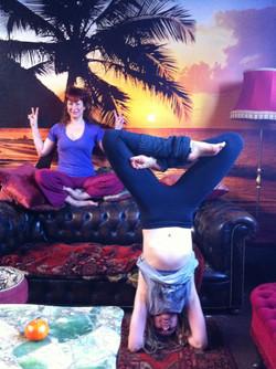 early yoga at kontiki