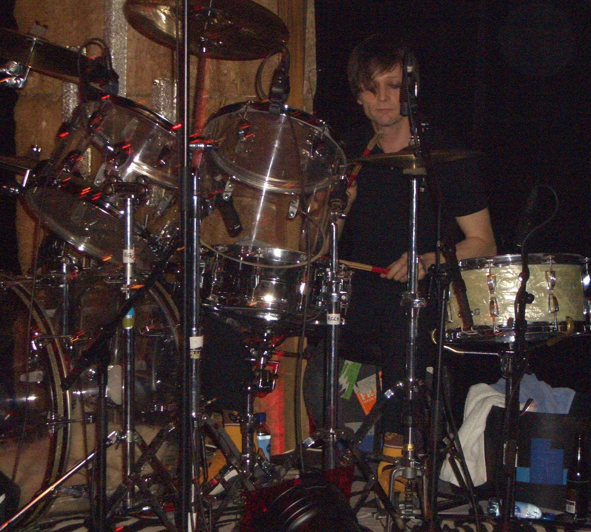 trev playing drums