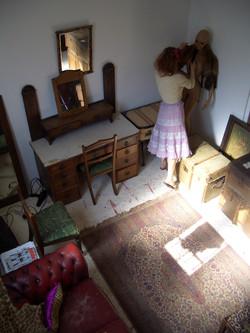 brulee arranging the old office