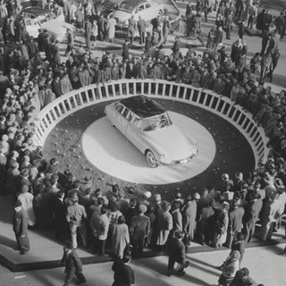 Paris launch of the DS19 in October 1955-70,000 orders taken first week