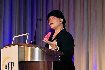 Lorina Marshall Blake Speaking at the AFP Philanthropist of the Year Awards Breakfast