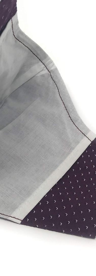 Muslin lining in claret print