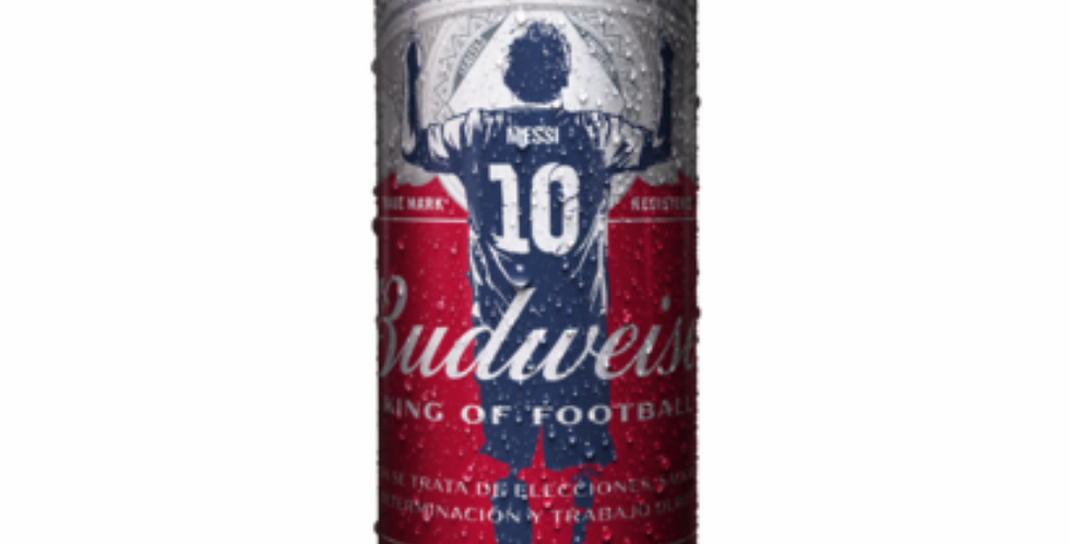Budweiser 473cc EDICIÓN LIMITADA MESSI Pack x 24un