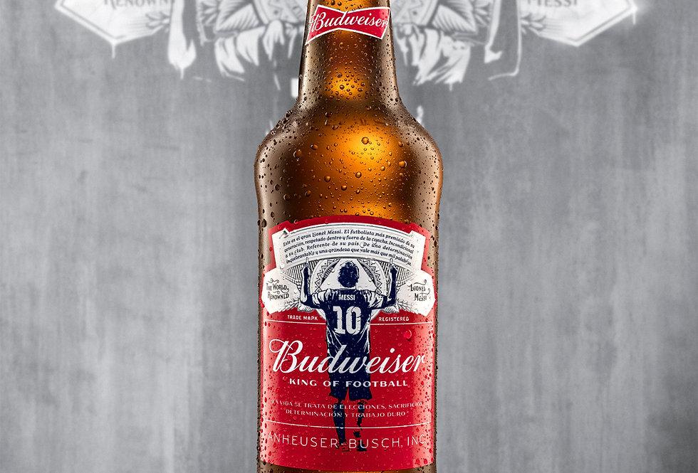 Budweiser 710cc EDICIÓN LIMITADA MESSI - Caja x 6un