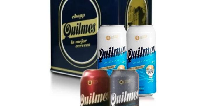 Lata Quilmes Vintage + 4 Quilmes de 473cc