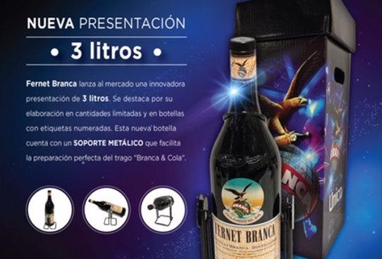Fernet Branca 3L + Soporte Metálico EDICIÓN LIMITADA