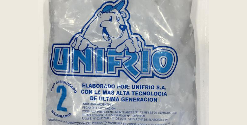 Hielo en Cubos Unifrio 2Kg EXCLUSIVO MAR DEL PLATA