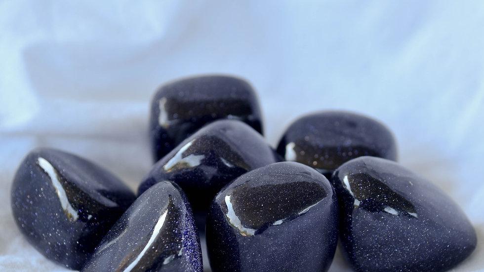Blue Goldstone Tumble