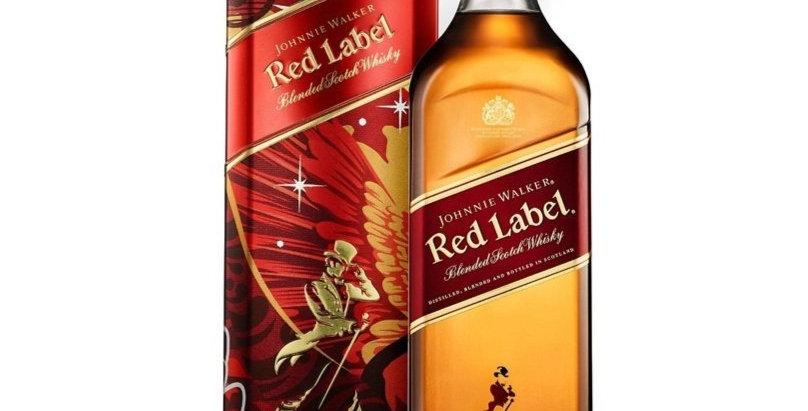 Johnnie Walker Red 750cc Edición Limitada Estuche de Lata