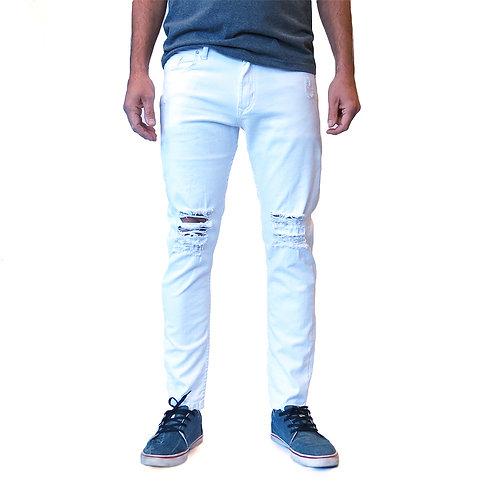 PANT 5 BOLS WHITE RIOT