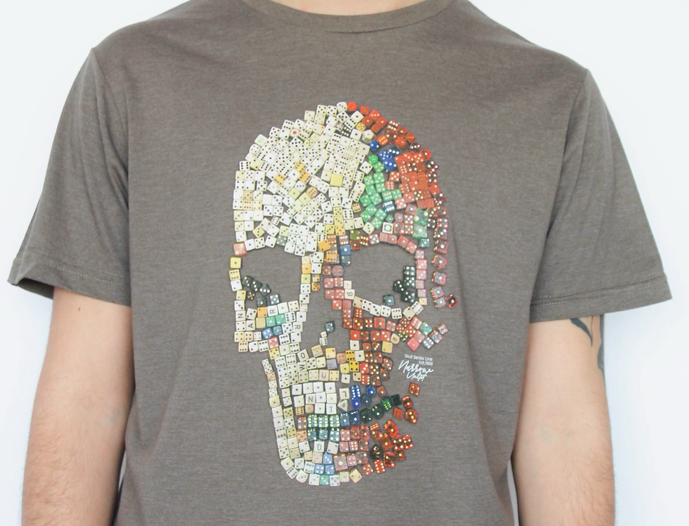 SKULL AND DICES REG TEE