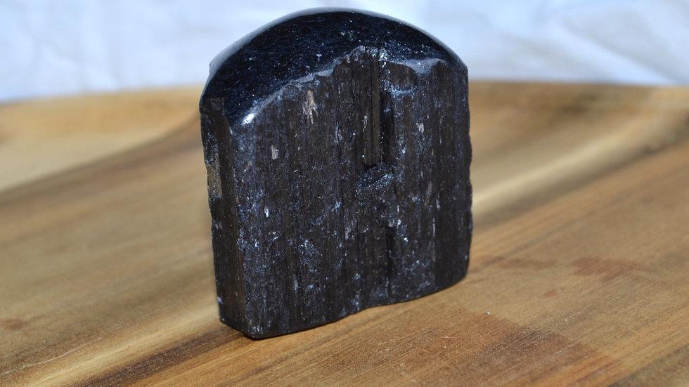 Black Tourmaline One-face polish Stone