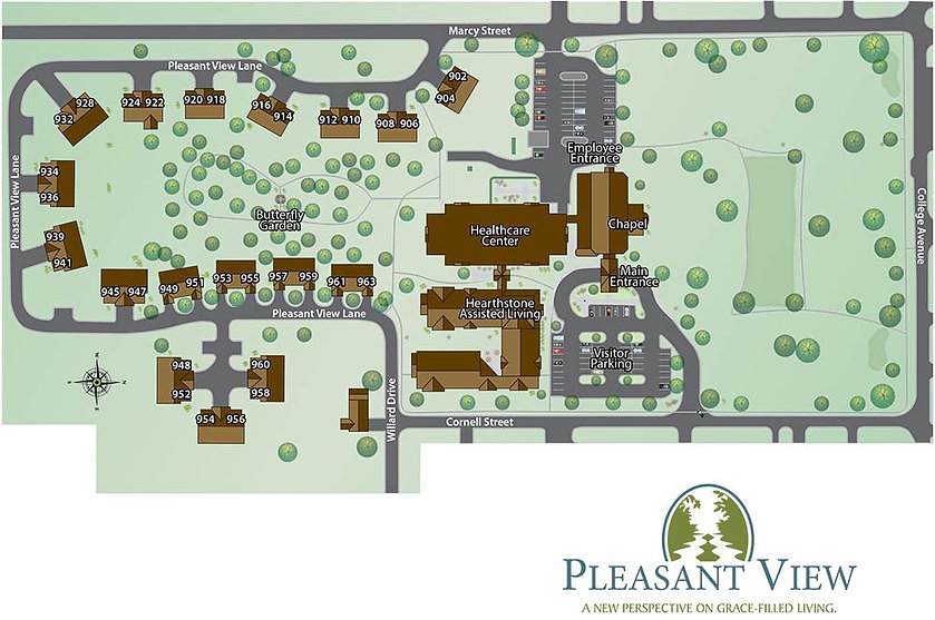 Campus map of Pleasant View