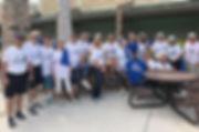 Blue Zone Walk participants