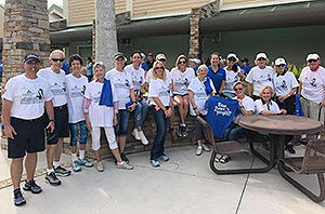 Blue Zone Walk participants