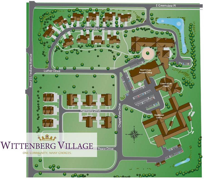 Campus map of Wittenberg Village