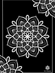 Print A3 - série n°1 - Negative Mandala n°4