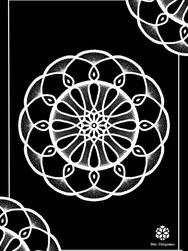 Print A3 - série n°1 - Negative Mandala n°3