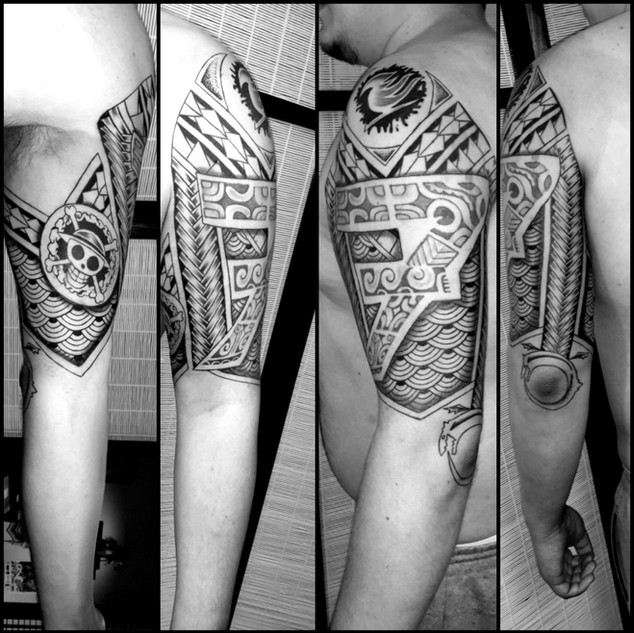 ours ornemental tatouage illustration Nantes Black project tattoo tatouage homme tatoueur français tattoo ornemtal femme one piece pattern japonais