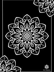 Print A3 - série n°1 - Negative Mandala n°1