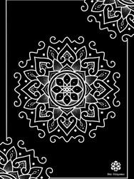 Print A3 - série n°1 - Negative Mandala n°2