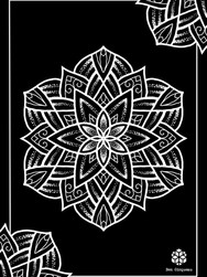 Print A3 - série n°1 - Negative Mandala n°5