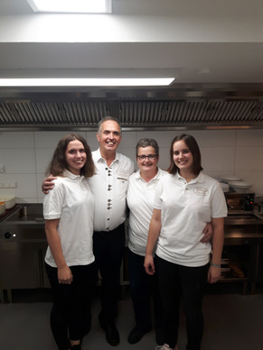 Das Eintrachtteam (von links nach rechts) Franziska , Armin, Stefanie und Katharina Neu