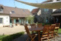 Chambres d'hôtes proches de Taizé - La terrasse commune