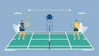 social-distancing-in-tennis-sport-vector