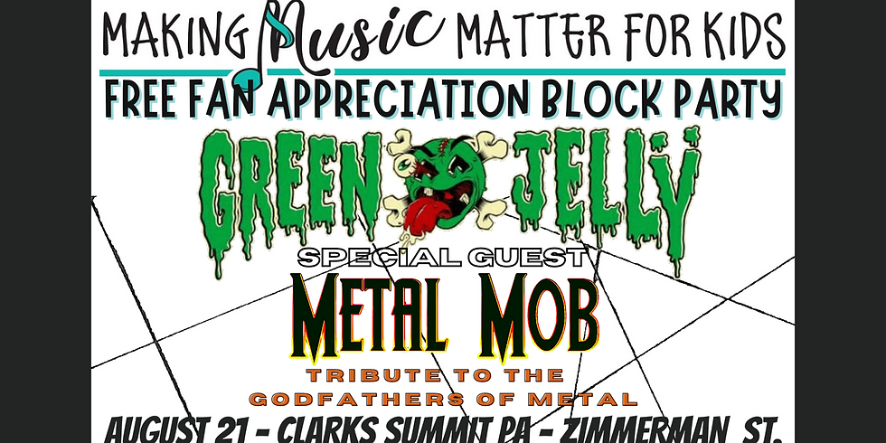 VIP Your Summer Shenanigans with Green Jellÿ Special guest Metal Mob