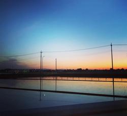 弥兵衛から見える夕日
