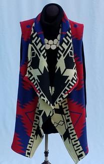 Awenea Wrap Front Ombe 1990's Black Bord