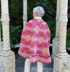 Pink Ombre Cape Back View