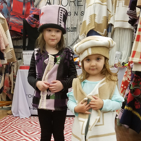 Lilly & Vivienne Vests and Hats