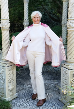 Pink Ombre Cape Open View Lining