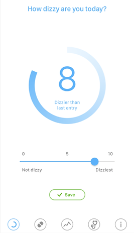 Dizziness tracking and treatment APP