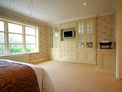 Bespoke bedroom furniture lovingly handcrafted by DP in London individually for our client
