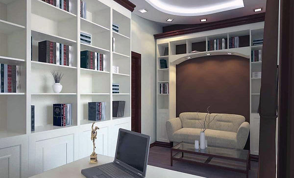 Bespoke, exclusive, designer, skillfully crafted fitted office and study furniture
