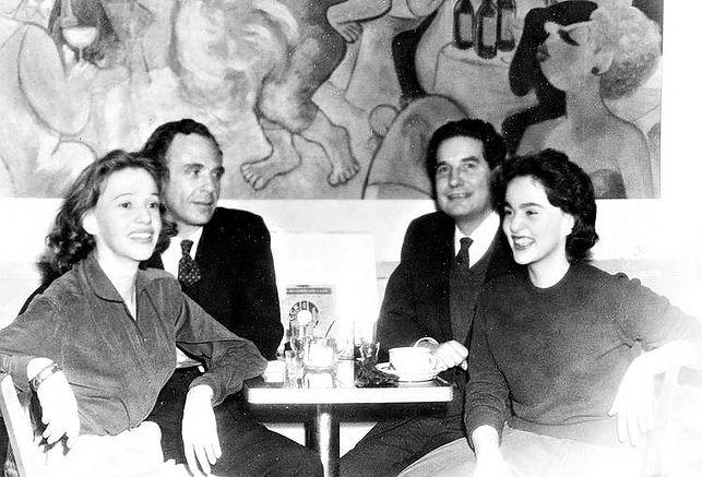 Bioy Casares, Silvina Ocampo, Octavio Paz y Elena Garro