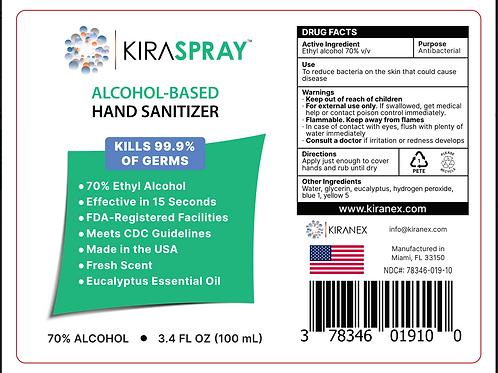 Case of 3.4oz KiraSpray™ (20 ct.)