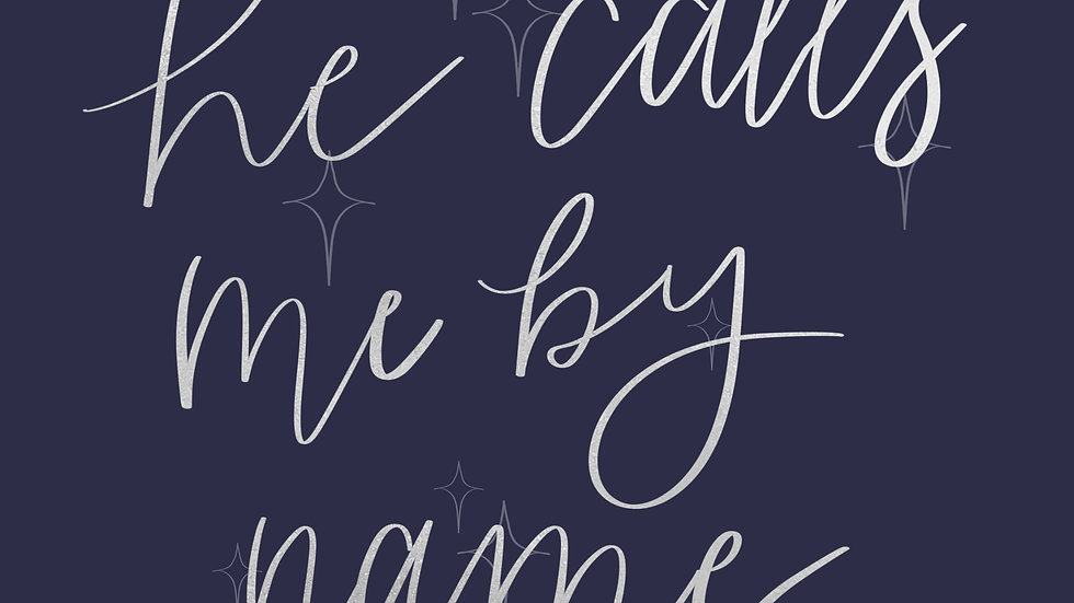 He Calls Me By Name Sticker