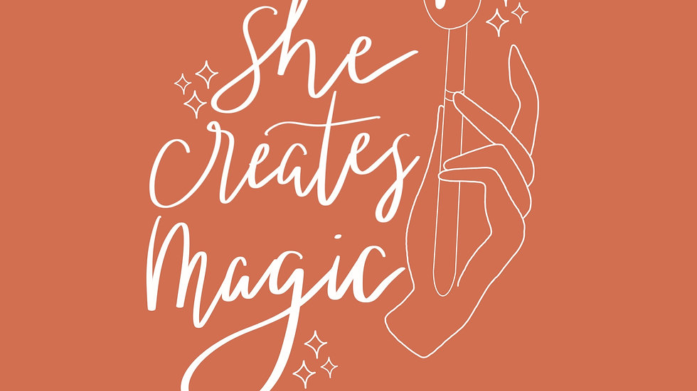 She Creates Magic Sticker