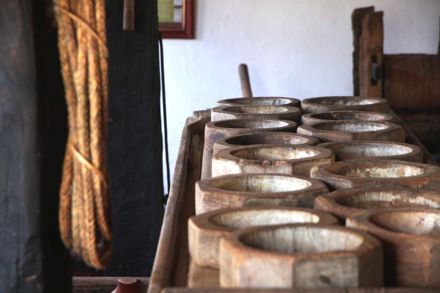 Formas de madeira para queijo